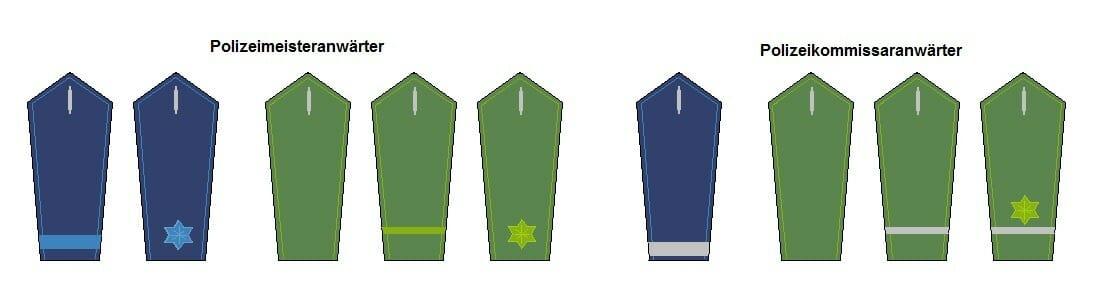 Vorbereitungsdienst Polizei Dienstbezeichnungen