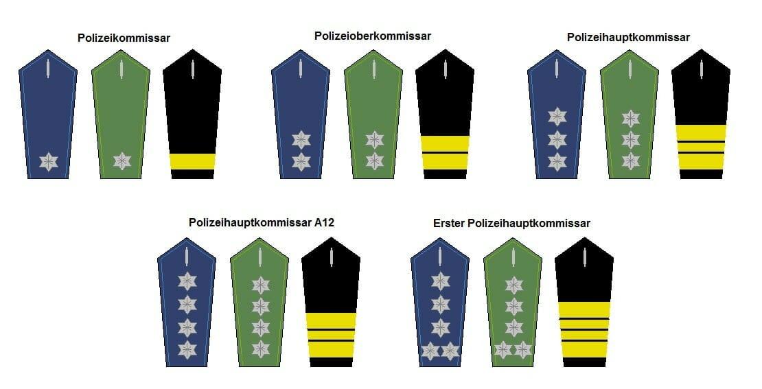 gehobener Dienst Polizei Dienstgrade