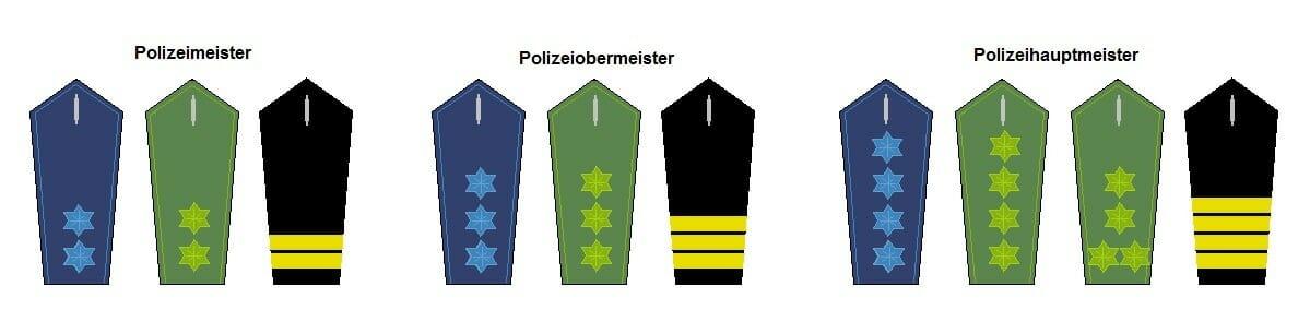 mittlerer Dienst Polizei Dienstgrade