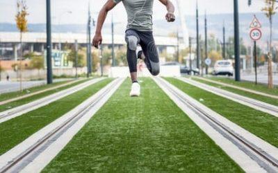 Polizei Sporttest: 5er Sprunglauf in der Sportprüfung