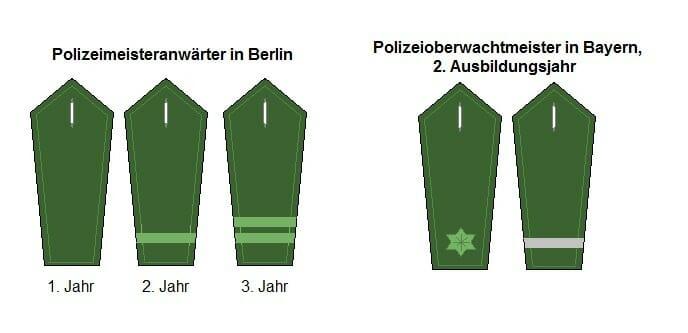 Berlin und Bayern Polizeiausbildung