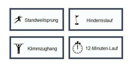 Bausteine Sporttest Polizei Saarland